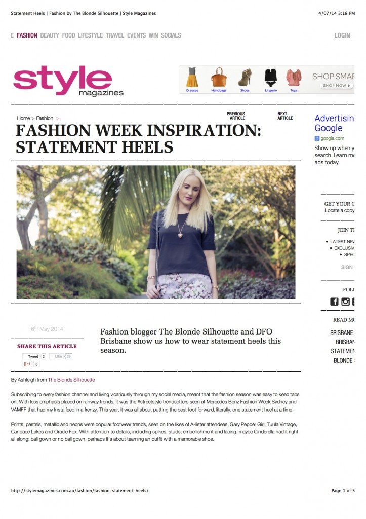 Statement Heels | Fashion by The Blonde Silhouette | Style Magazines copy