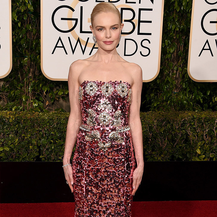 Kate-Bosworth-Pink-Sequinned-Gown-Golden-Globes