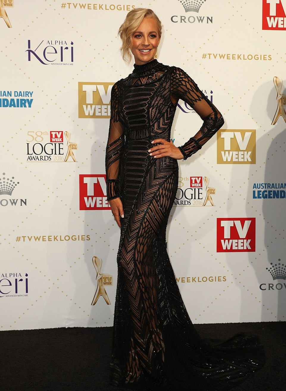 "alt=""Logies 2016 Carrie Bickmore"""